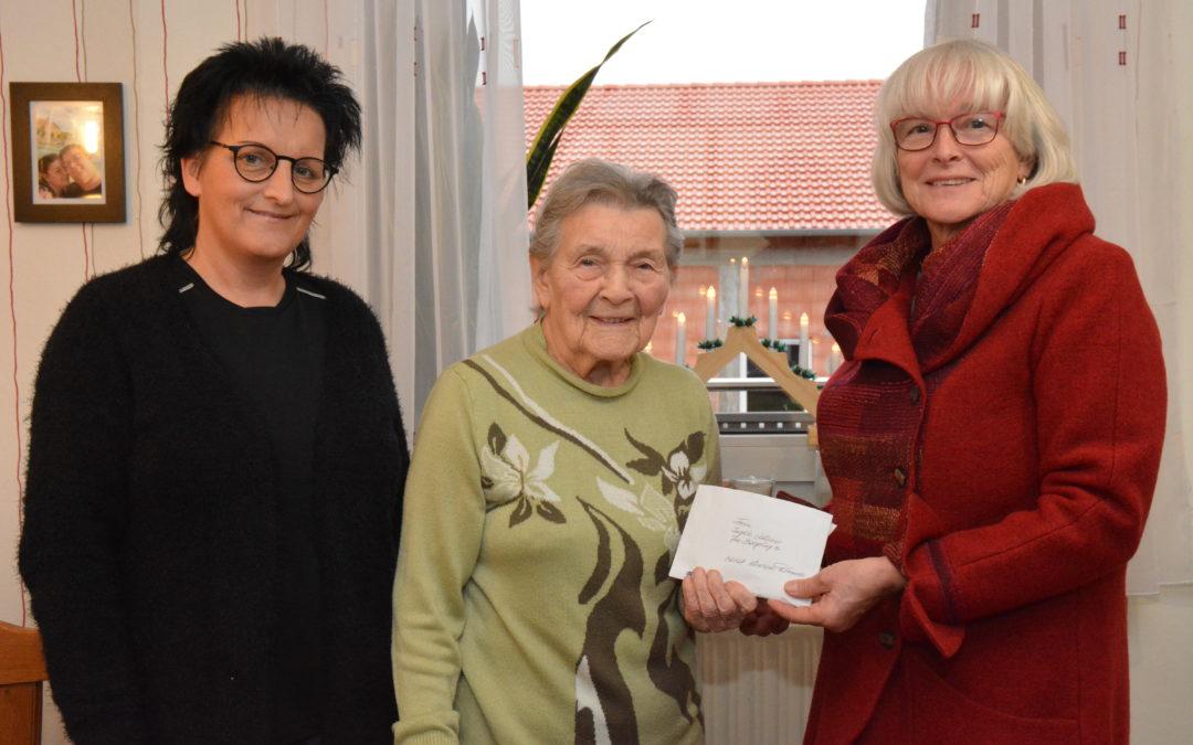 90. Geburtstag von Ingrid Leister